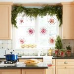 Colorful Christmas decoration for kitchen window