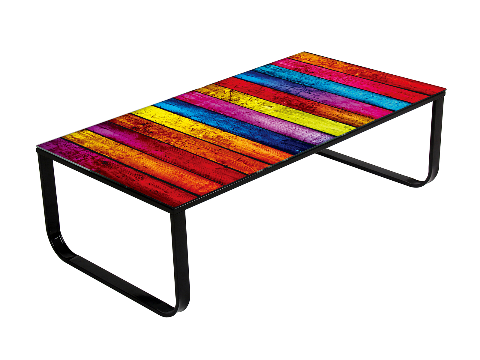 Funky coffee tables create more inviting look to your - Table basse multicolore ...