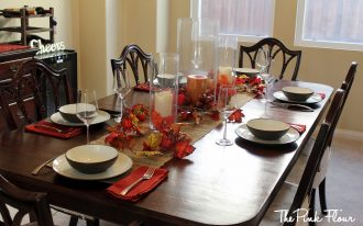 Comfortable Centerpieces For Dining Room Tables Witrh Christmas Candles And Leaves Decor