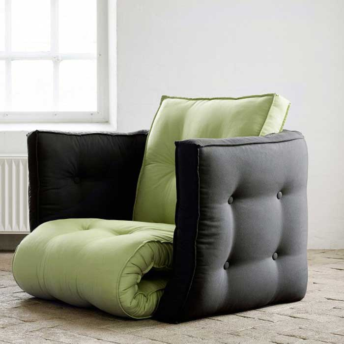 Comfy Chairs For Small Spaces With Unique Design And Green Black Color