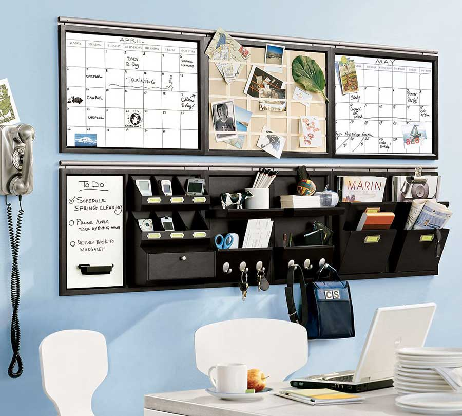 complete and huge wall organizer idea for office