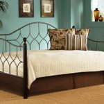 Contemporary Daybed Covers With Cream Wedding And Wrought Iron Bed Frame