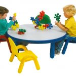 Contemporary Playroom With Round Table And Chair Set For Toddlers