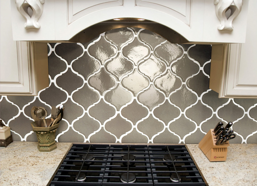 Elegant Beveled Arabesque Tile HomesFeed