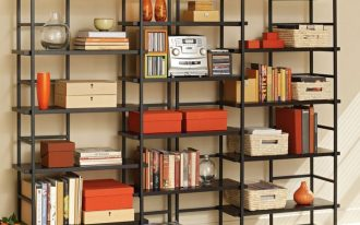 Cool Black Iron Frame Of Target Book Cases