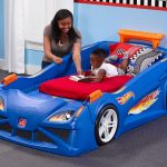 Cool Boy Blue Race Car Beds For Toddlers]
