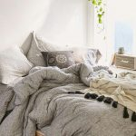 Cool Grey Urban Outfitter Bedding With Short Bed