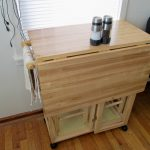 Cool Wooden Drop Leaf Table With Chair Storage And Napkin Holder