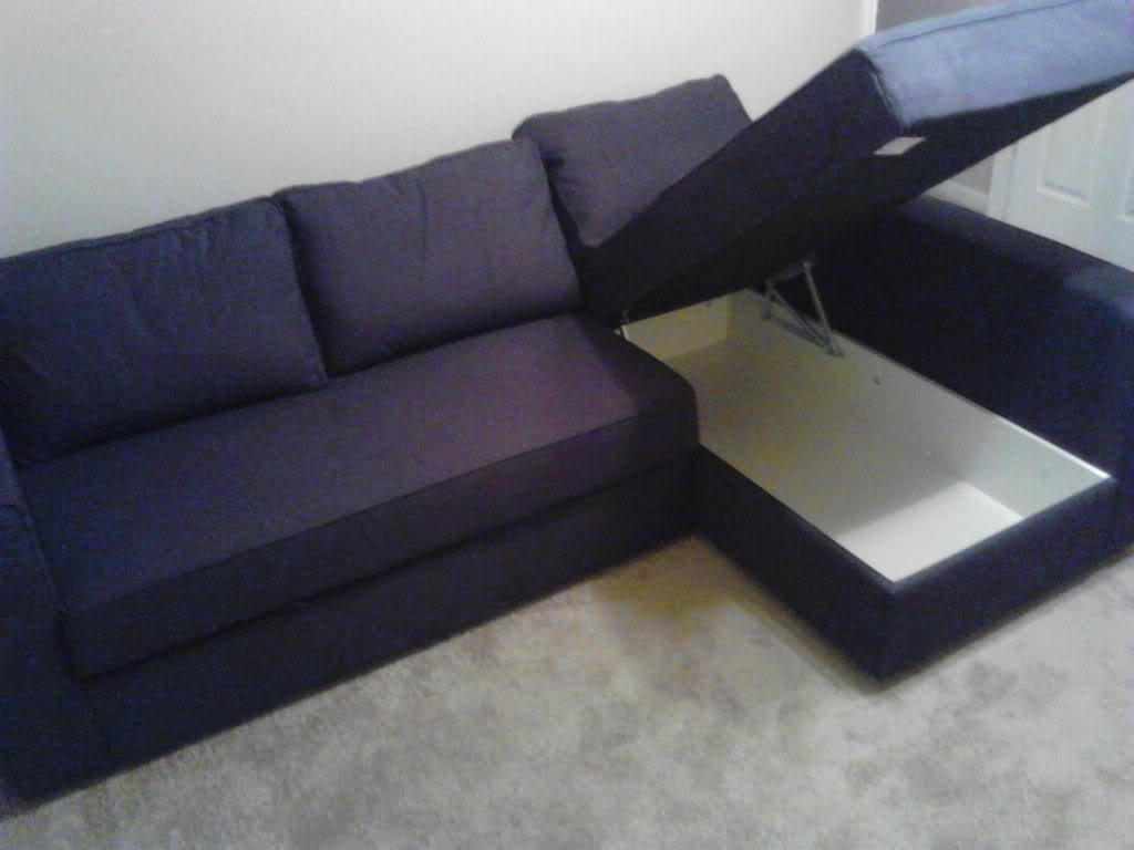 Corner Purple Sofa Sleepers Ikea With Storage