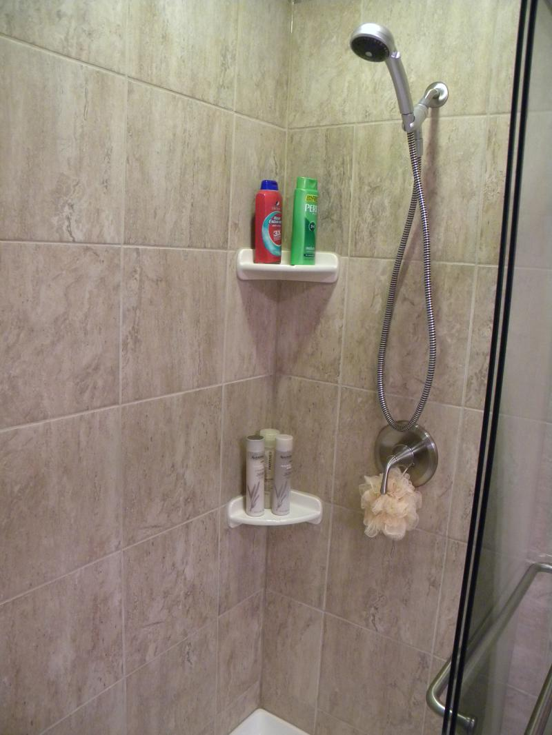 Simple Shampoo Rack for Shower | HomesFeed