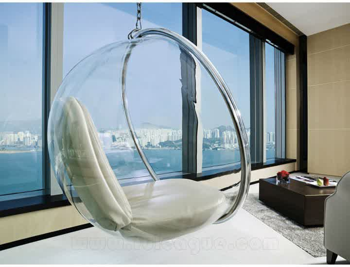 Clear Hanging Chair for Indoor and Outdoor - HomesFeed