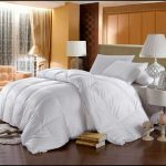 Cozy white comforter for california king bed size