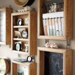 Creative wood wall organizer idea for office or home office