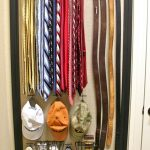 DIY Design Of Belt Storage Ideas WIth Iron Basket And Hat Holder