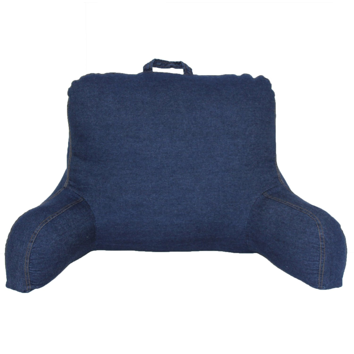 Bed pillow chair - Bed Chair Pillow Amazon Dark Blue Pillows For Sitting Up In Bed