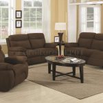 Dark Brown Couch And Loveseat Sets With Oval Coffee Table And Warm Rug