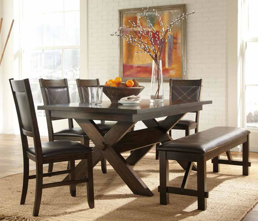 awesome dinette sets with bench homesfeed. Black Bedroom Furniture Sets. Home Design Ideas