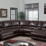 Dark Brown Leather Sectional Sofas With Recliners And Chaise