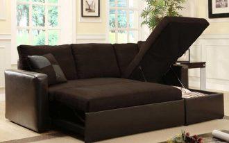 Dark Brown Sofa Sleepers Ikea With Leather And Storage Design