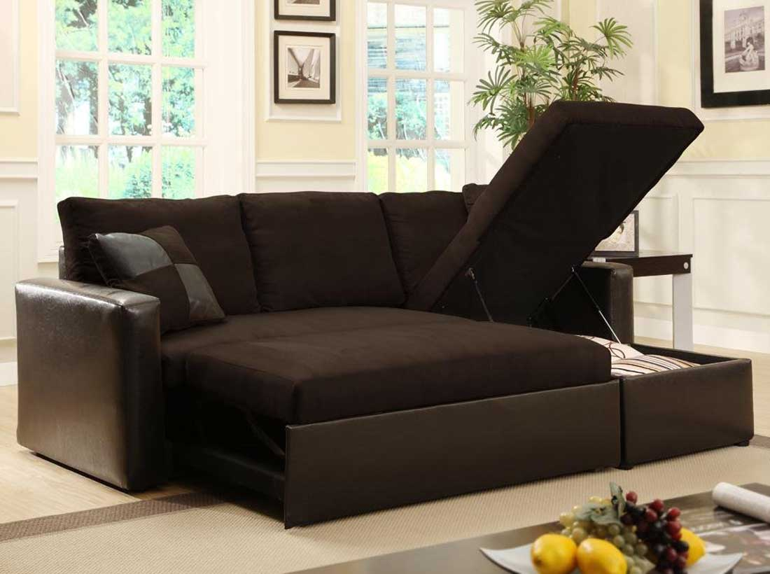 Dark Brown Sofa Sleepers Ikea With Leather And Storage Design