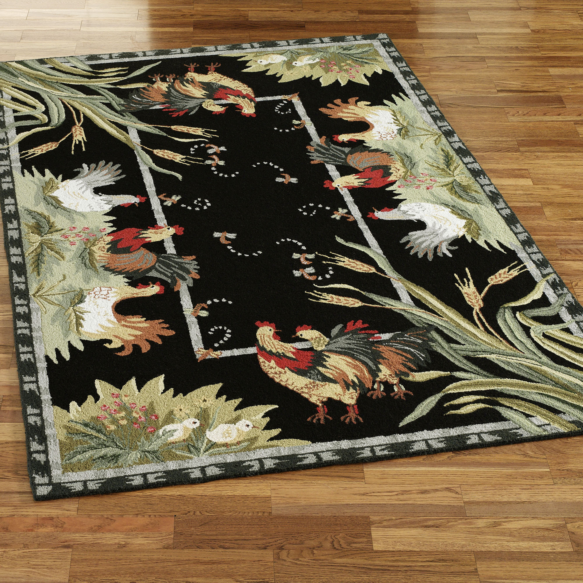 Unique Rooster Kitchen Rugs