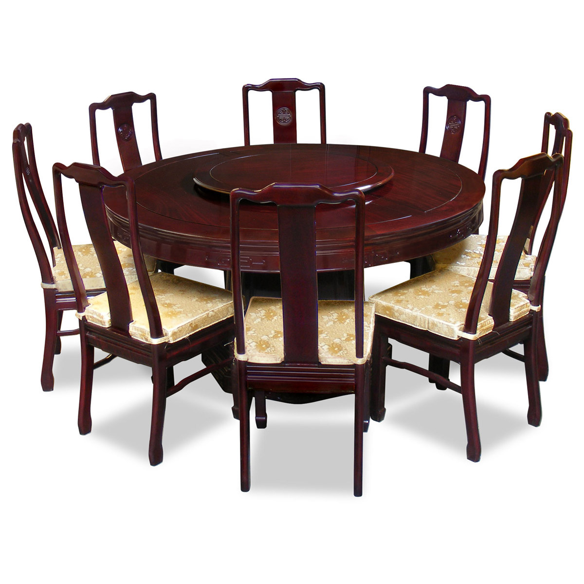 Perfect 8 person round dining table homesfeed for Dining table chairs