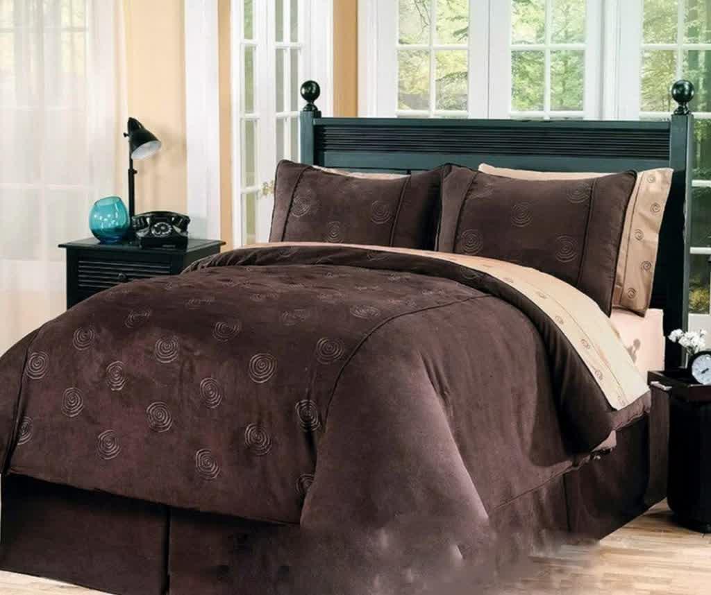 com down comforter king teal brown cowchickenpig