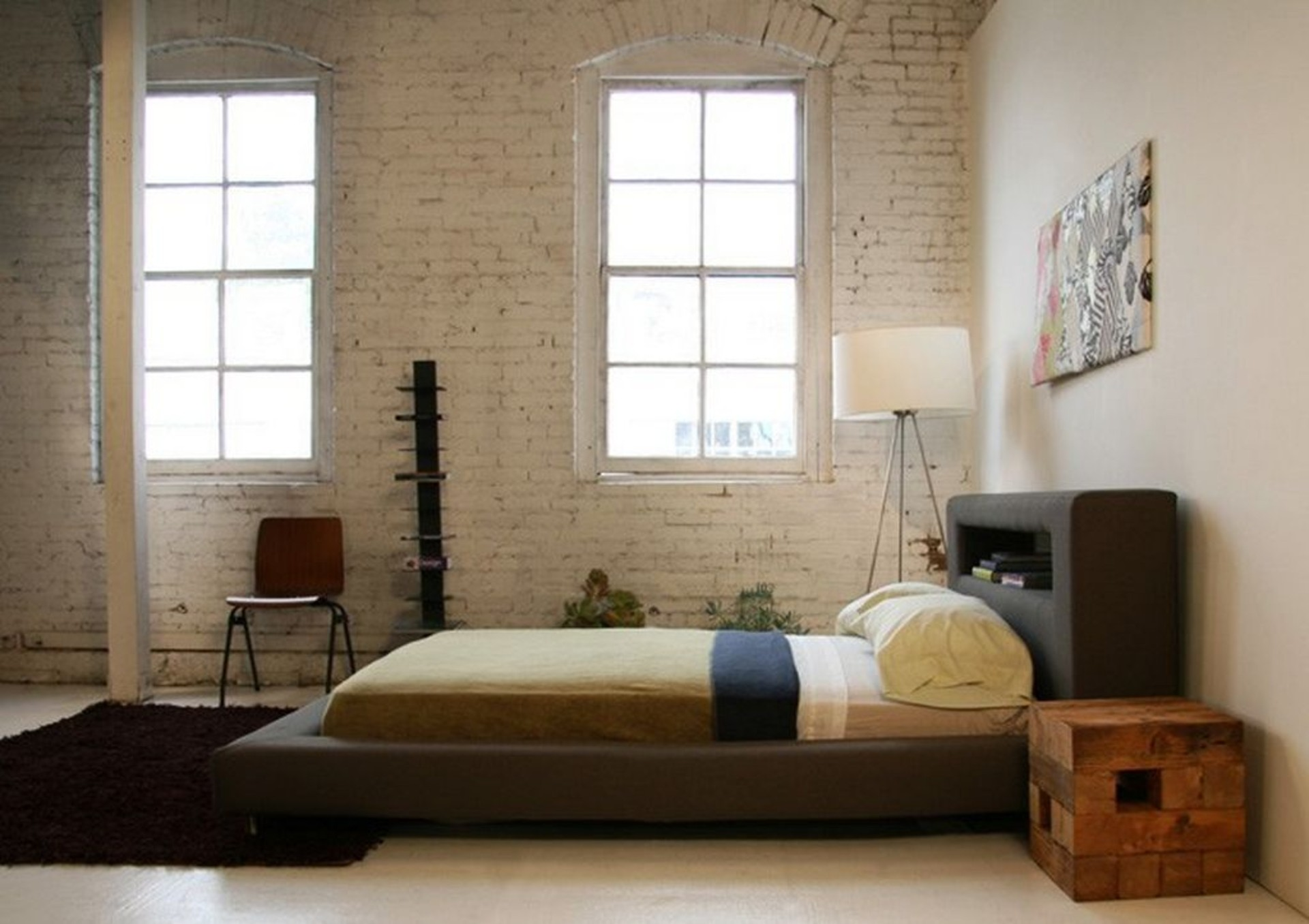Minimalist platform bed designs and pictures homesfeed for Minimalist wall decor ideas