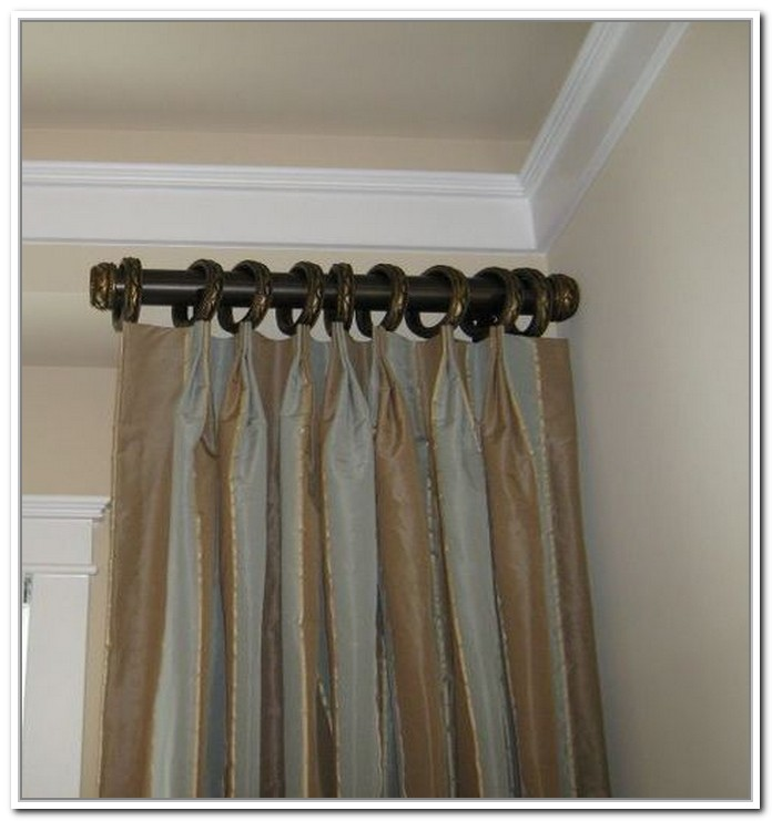 Short curtain rods extend your window design solution Short curtain rods