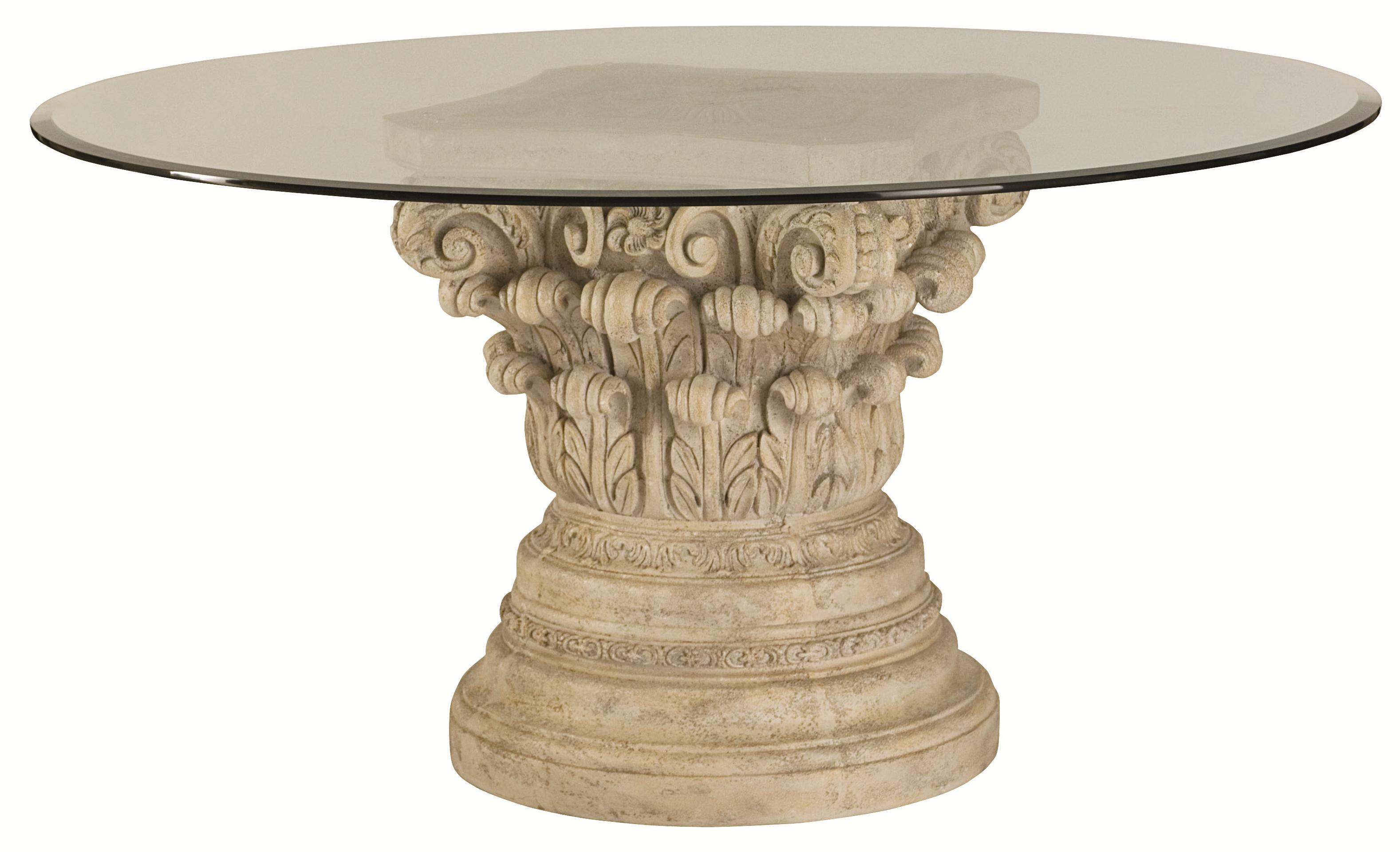 White Kitchen Pedestal Table