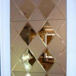 Decorative mirror tiles in diamond cut shape