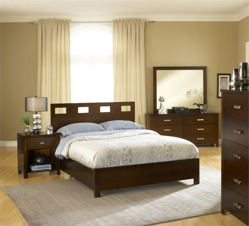 Dillards Bedroom Furniture With Wooden Bed Side Table Cabinet And Dresser