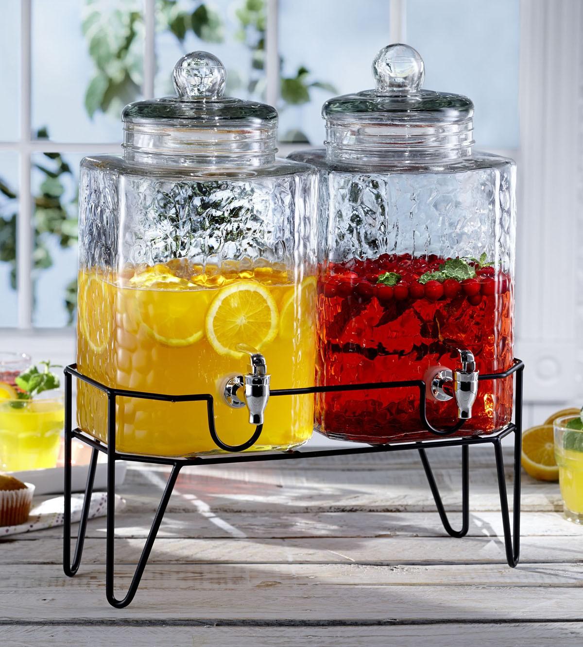 Glass Drink Dispenser For Refrigerator