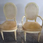 Double Wooden Cane Back Dining Chair