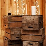Dramatic and romantic look side tables made of vintage look wine crates