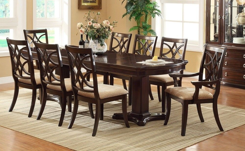 Formal dining room sets for 8 for Dining room table and 8 chairs