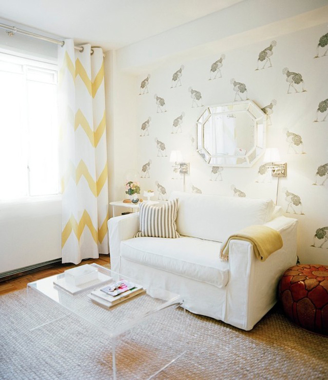 ... elegant white living room with lucite coffee table ikea medium sofa  decorative wallpaper and white yellow ... - Lucite Coffee Table Ikea