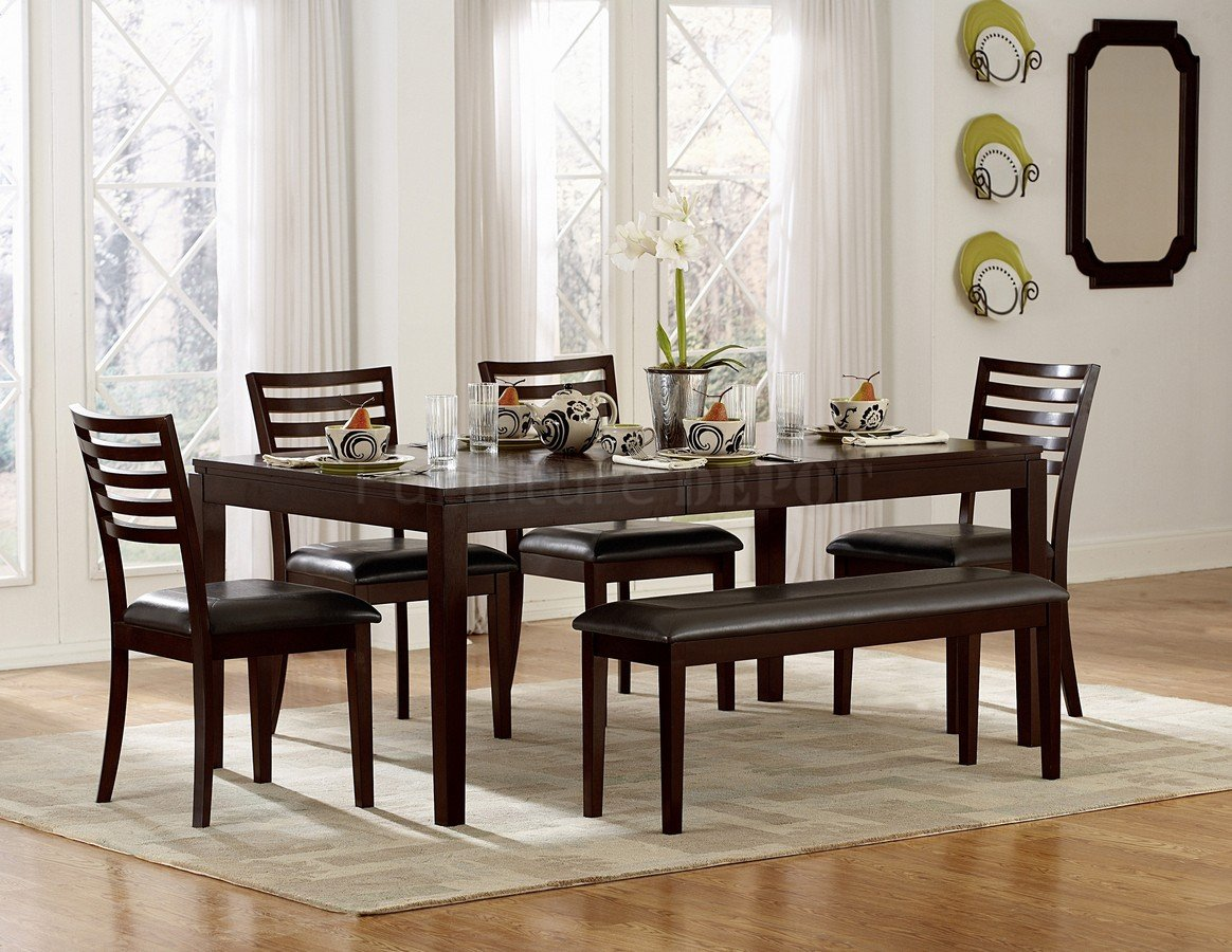 dining room bench table | Awesome Dinette Sets With Bench | HomesFeed