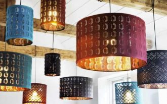 Extra size lamp shade idea in various colors