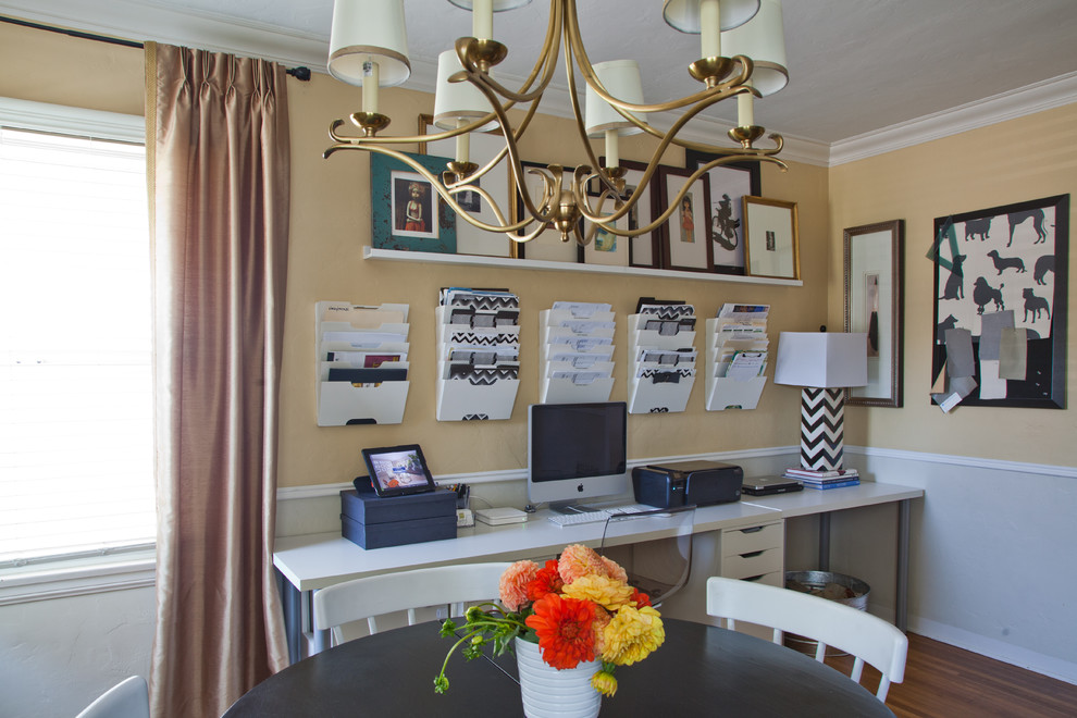 Fantastic Wall Organizers For Home Office With Long Desk Cool Chandelier And Wooden Round Table