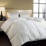 Feather fills comforter set in white for california king bed