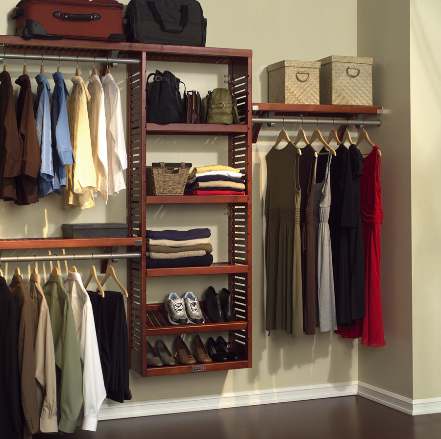 Floating Wood Closet Organizer Lowe At The Corner