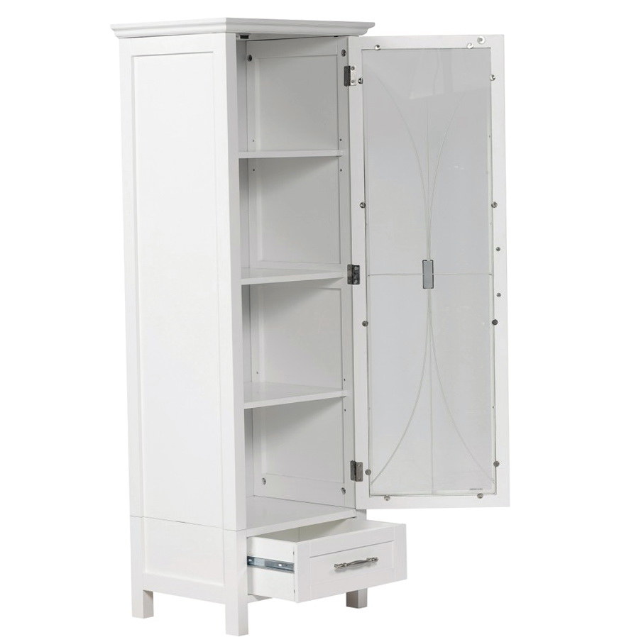 free standing linen closet ideas  sc 1 st  HomesFeed : free standing cabinets with doors - Cheerinfomania.Com