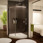 Frameless Sliding Curved Glass Shower Of Corner Shower Units