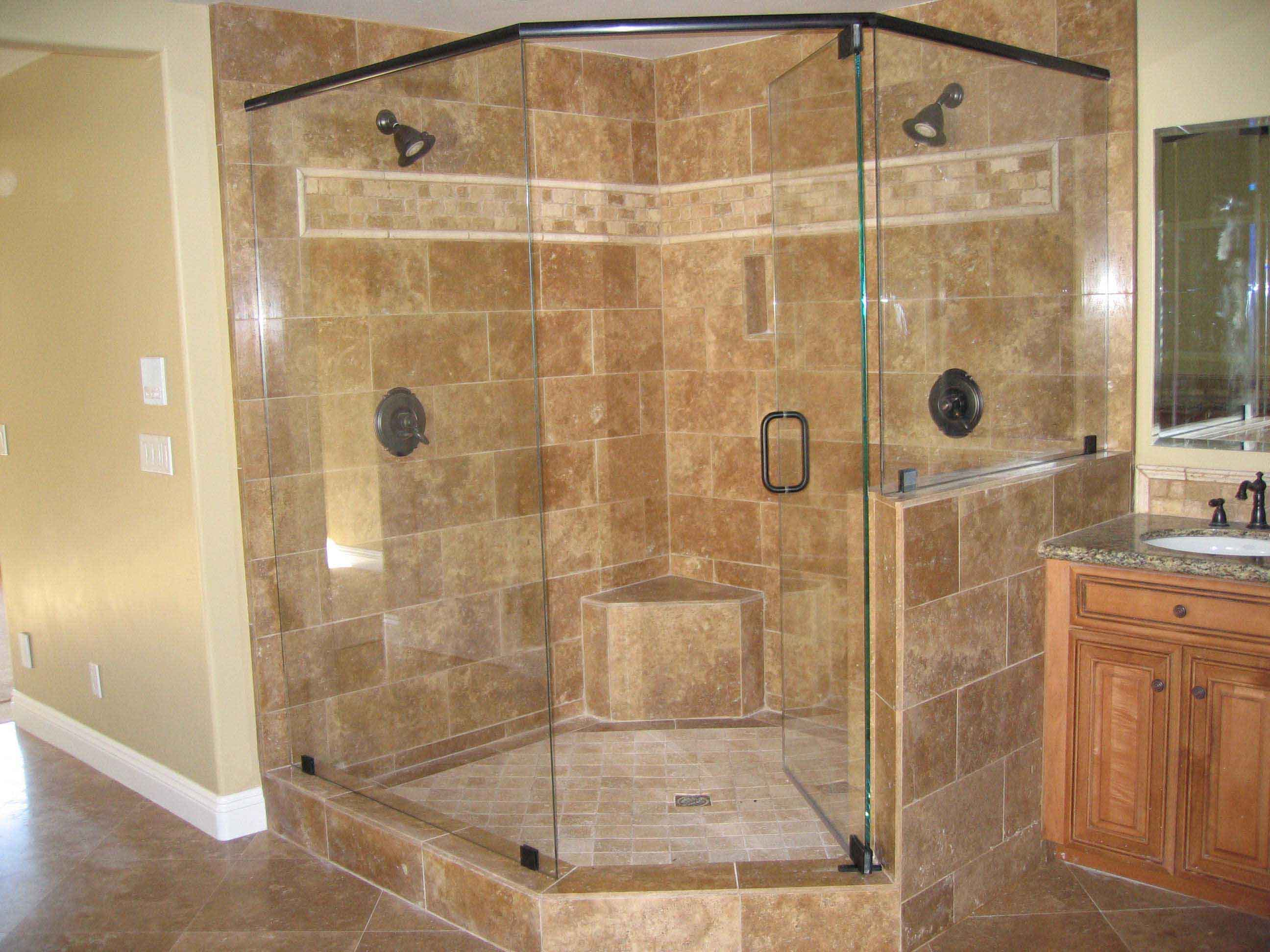 Framelss Shower Doors For Corner Shower Units