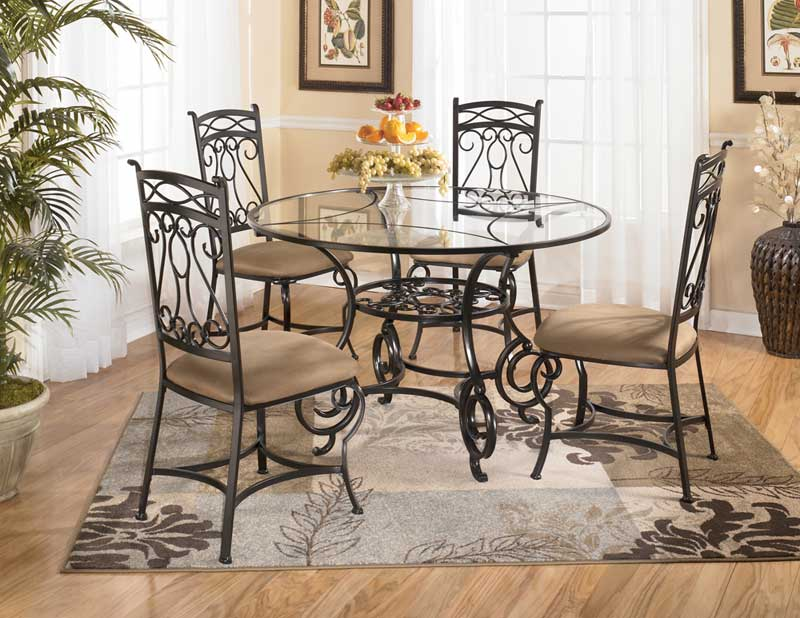 Round Glass Dining Table Decor beautiful dining room design using round glass dining room table