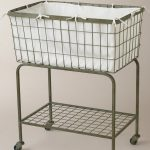 French Wire Laundry Baskets With Wheels