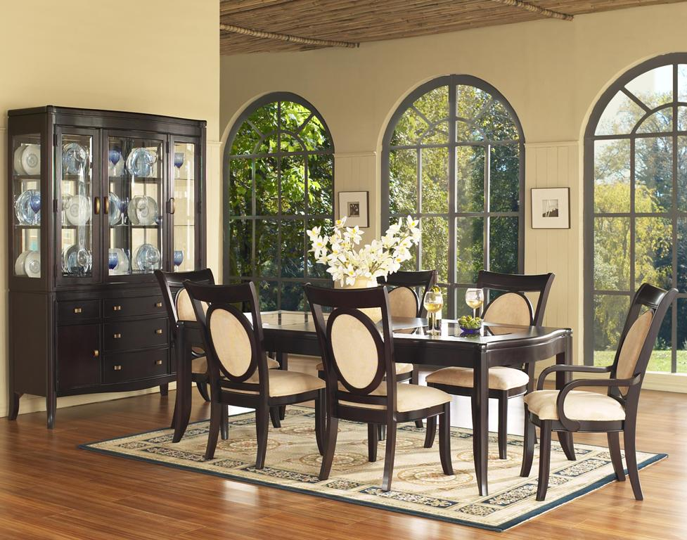 Fresh White Formal Dining Room Sets For 8 With Stylish Rug And Hutch