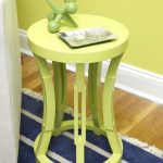Fresh yellow nursery side table with round top