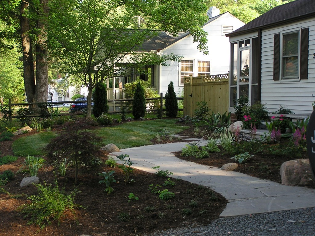 Awesome front yard landscape plans homesfeed for Plan landscape my yard